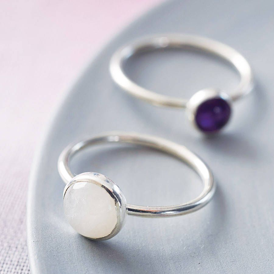 Vibrant Sterling Silver Gemstone Stacking Ring | Handmade sterling ...