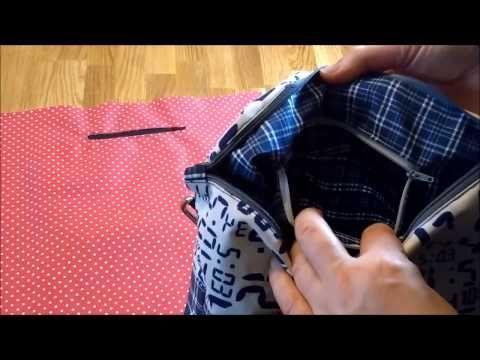 zweifache innentasche mit rei verschluss n hen youtube kleidung n hen taschen n hen und. Black Bedroom Furniture Sets. Home Design Ideas