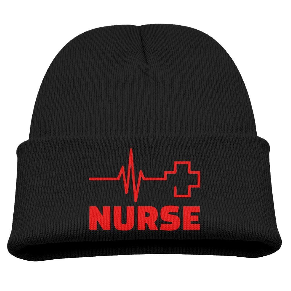 6a942c9ae9e Nurse Heartbeat Red Cross Unisex Kids Warm Winter Hat Knit Beanie Skull Cap  Cuff Beanie Hat