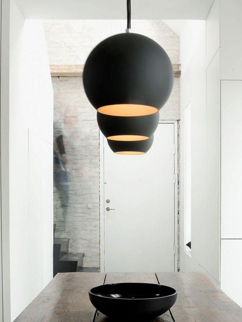 Topan vp6 in 2019 schwarze lampen lights in black for Designerleuchten esszimmer