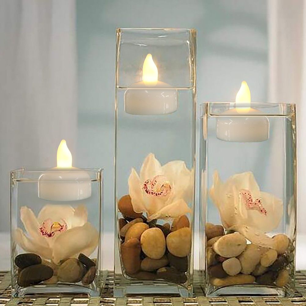 Details About Waterproof Led Floating Tea Light Flameless Candles
