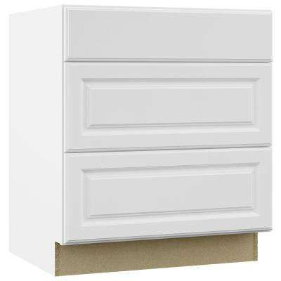 Hampton Assembled 30x34 5x24 In Pots And Pans Drawer Base Kitchen Cabinet In Satin White Base Cabinets Kitchen Cabinets Assembled Kitchen Cabinets
