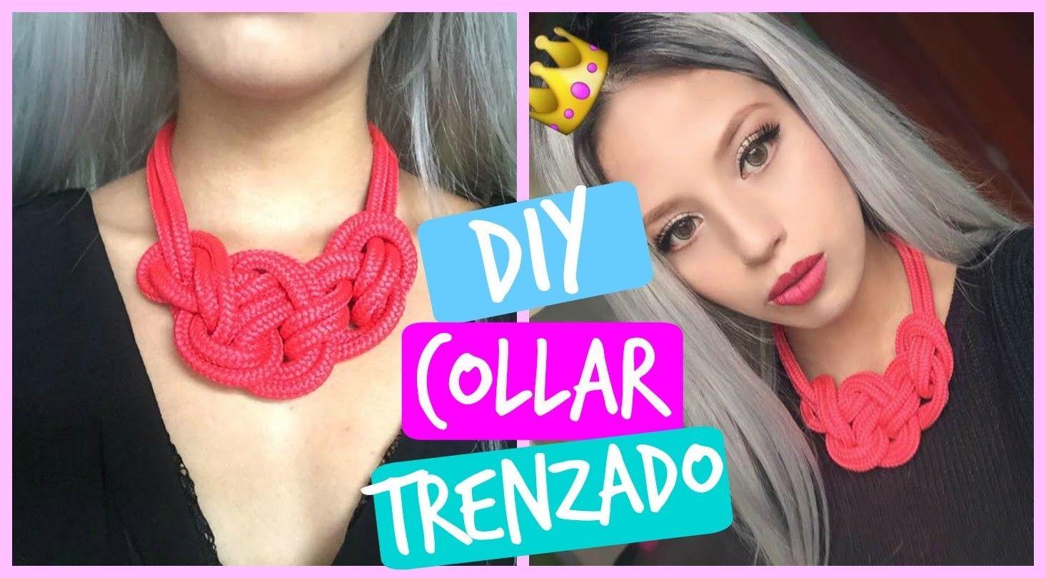 DIY collar trenzado
