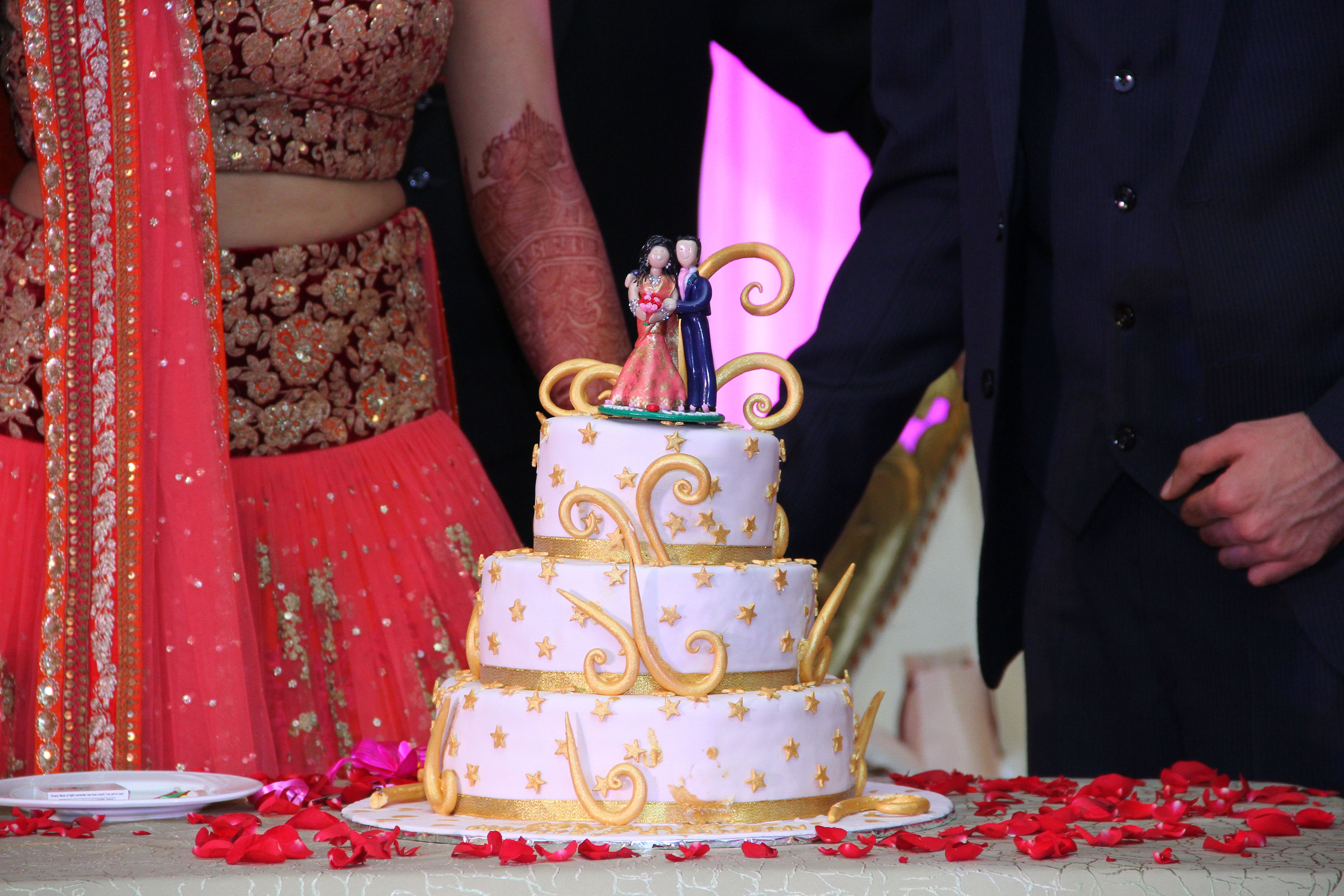 Personalised Indian Wedding Cake Topper