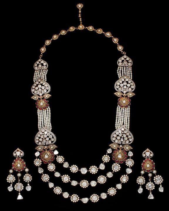Polki( uncut diamond) necklace