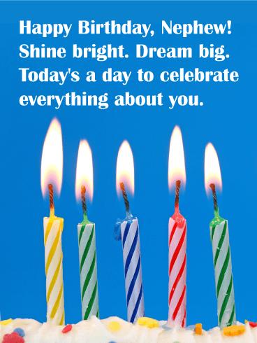 Shine Bright Happy Birthday Card For Nephew Birthday Greeting Cards By Davia Birthday Wishes For Nephew Happy Birthday Nephew Happy Birthday Wishes Nephew