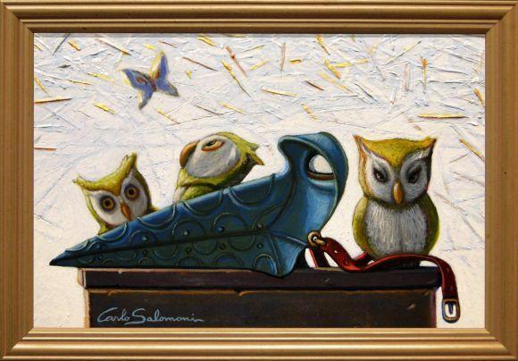 PLAGUE DOCTOR OWLS- (framed)