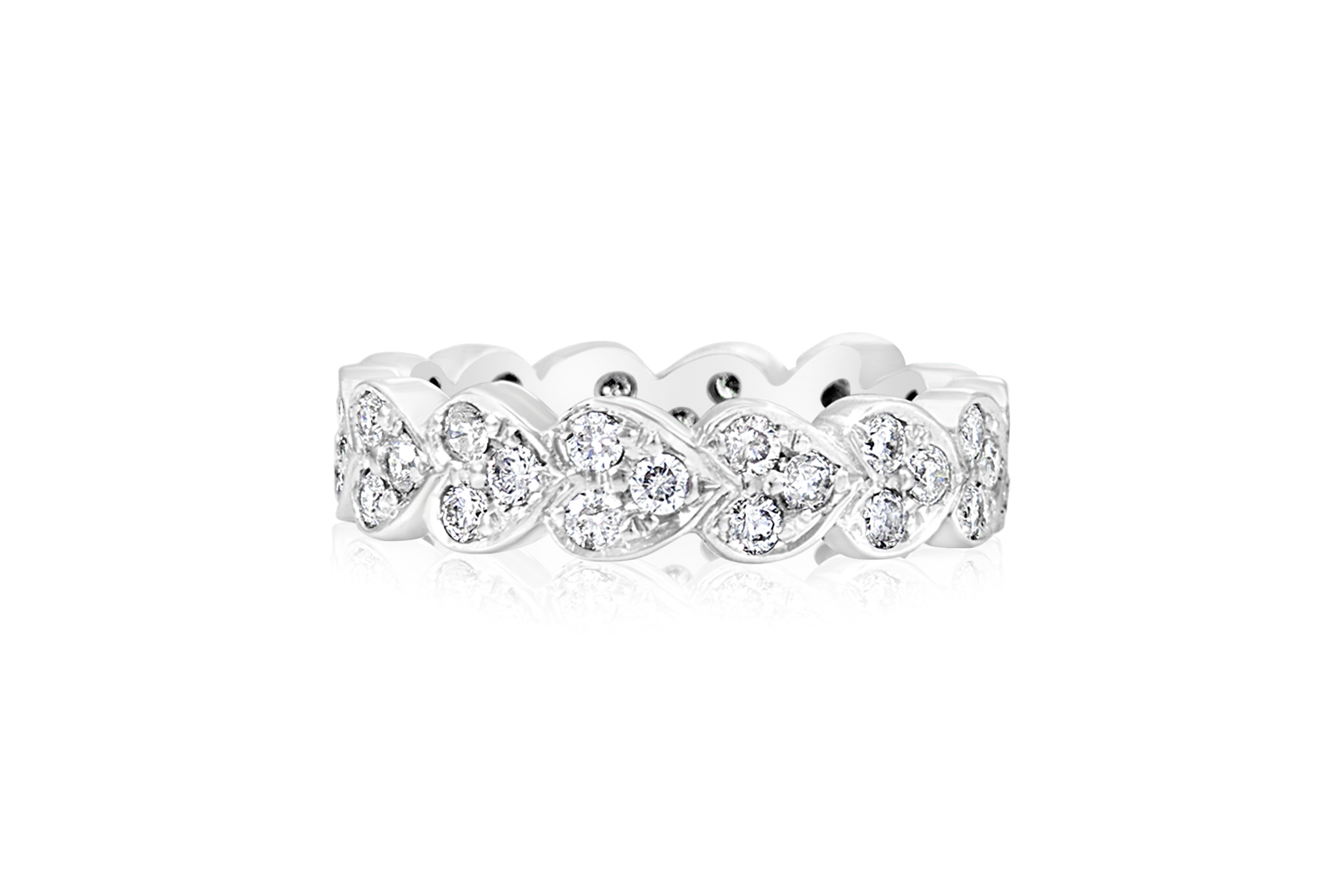 Heart Eternity Band Diamond Engagement Ring In 2019 White Gold Rings Gold Rings Eternity Bands