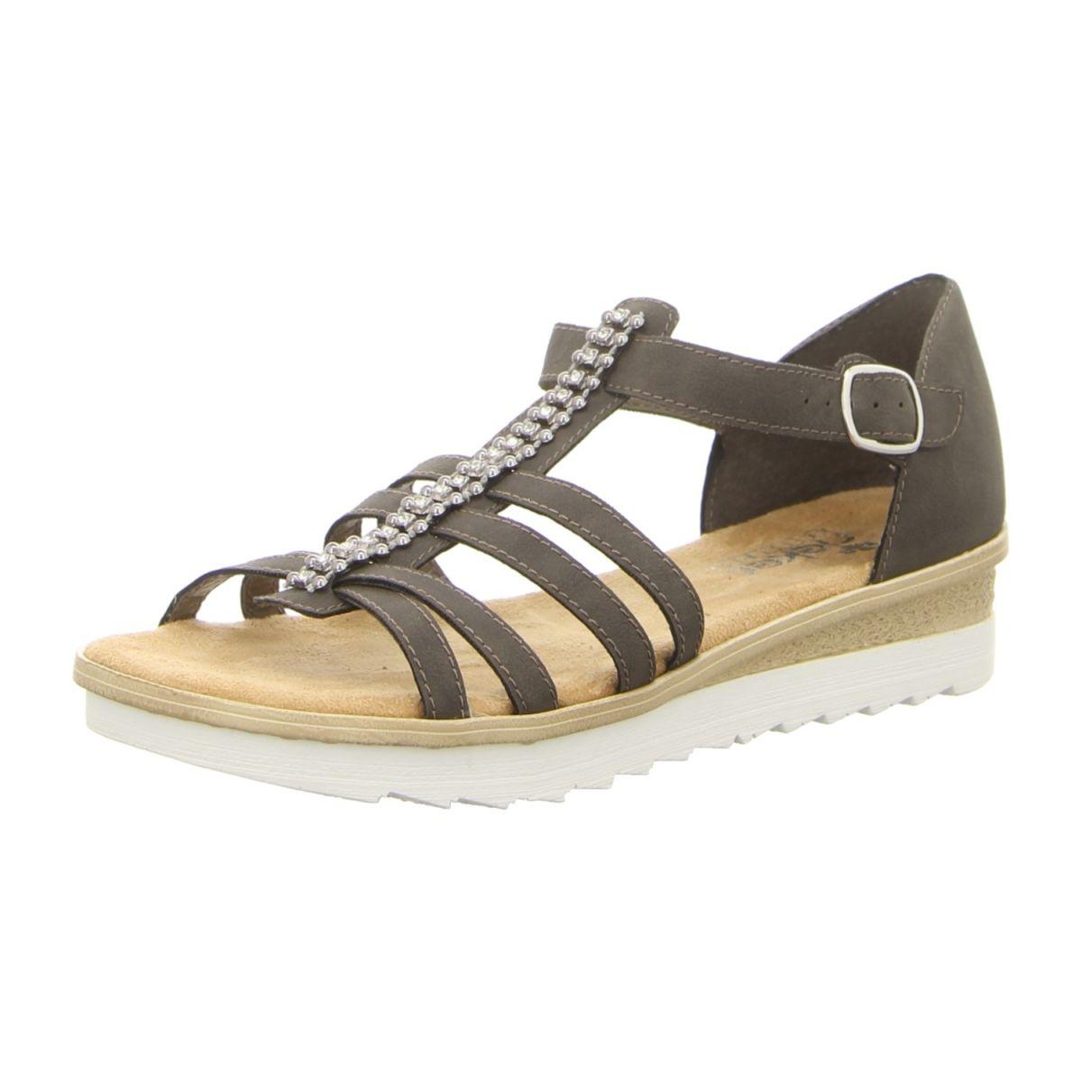 Neu Rieker Sandalen 63128 45 Grau Sandalen Damenschuhe Rieker Schuhe