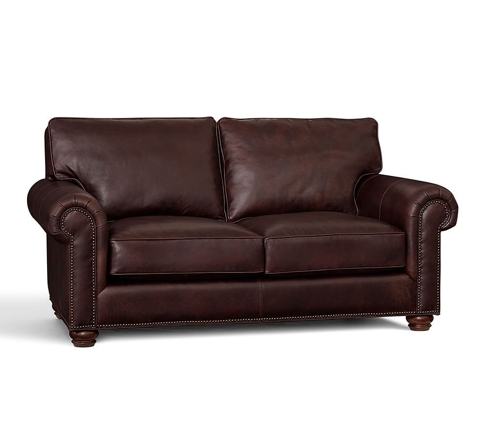 Awesome Webster Leather Sofa Vintage Tobacco Down Blend Wrapped Creativecarmelina Interior Chair Design Creativecarmelinacom