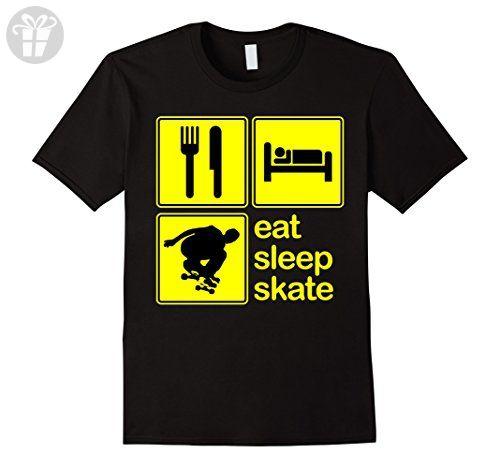 Men's Eat Sleep Skate Repeat Skateboard Club Team Funny T-Shirt Medium Black (*Amazon Partner-Link)