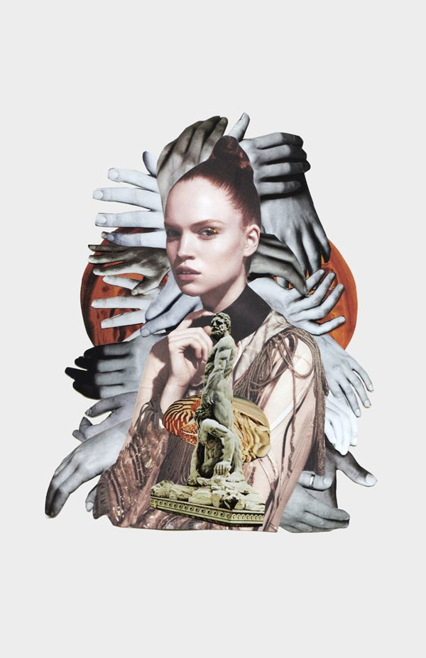 DANSK fashion collages by Anjela Freyja, via Behance    classic hands