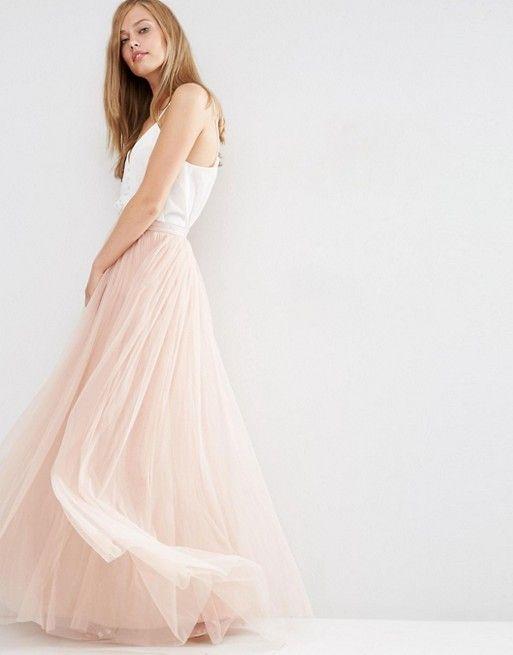 Discover Fashion Online Falda Tul Larga 3c0d3f445dd2