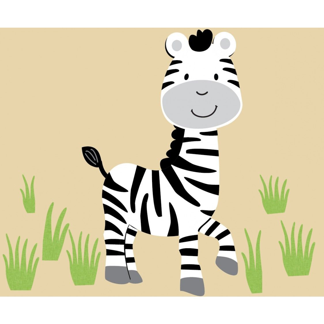 Zebra with Grass - Wall Decal | Wall decals, Grasses and Zebra print ...