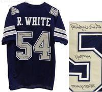 Randy White Signed Navy Custom Dallas Cowboys Football Jersey w/HOF 94, Co-MVP SB XII