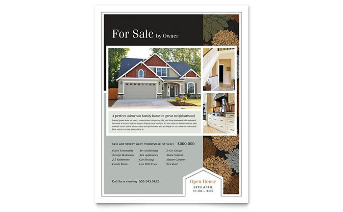 Suburban Real Estate Flyer Design Template By Stocklayouts Work