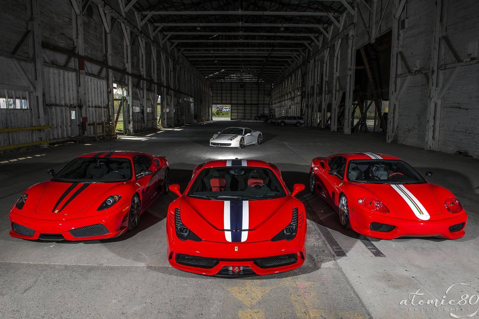 Ferrari 458 Speciale 430 Scuderia And 360 Challenge Stradale