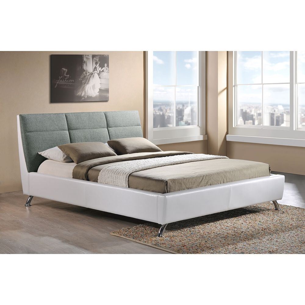 Baxton Studio Bruno Modern And Contemporary Two Tone White And