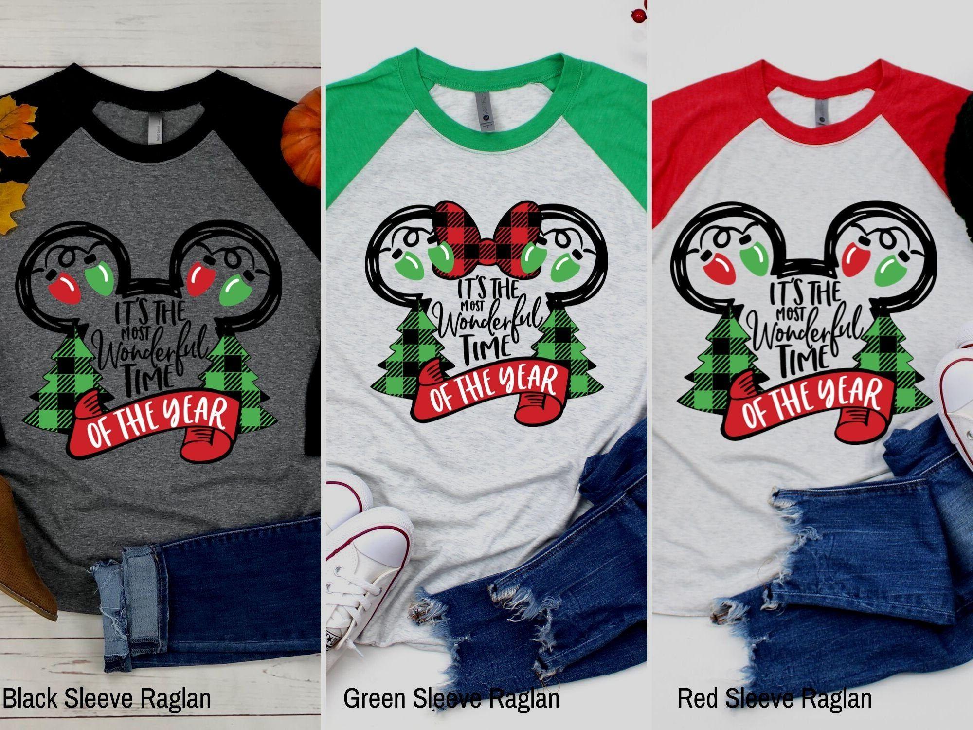 Disney Christmas Shirt Family Disney Shirts Most Wonderful Etsy In 2020 Disney Shirts For Family Disney Christmas Shirts Christmas Shirts
