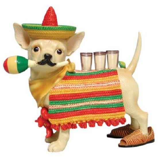 Aye Chihuahua Mexican Dog With Sombrero And Tequila Chihuahua