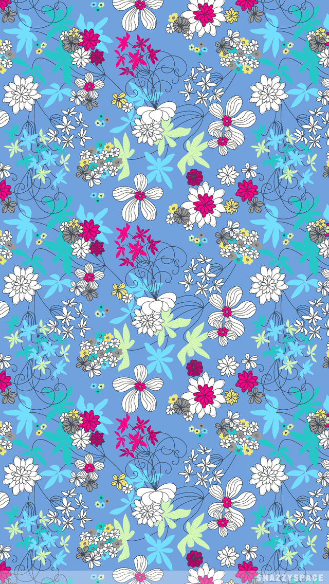 Pin By Jessica Henley On Beautiful Blues Floral Wallpaper Flower Wallpaper Cute Wallpapers