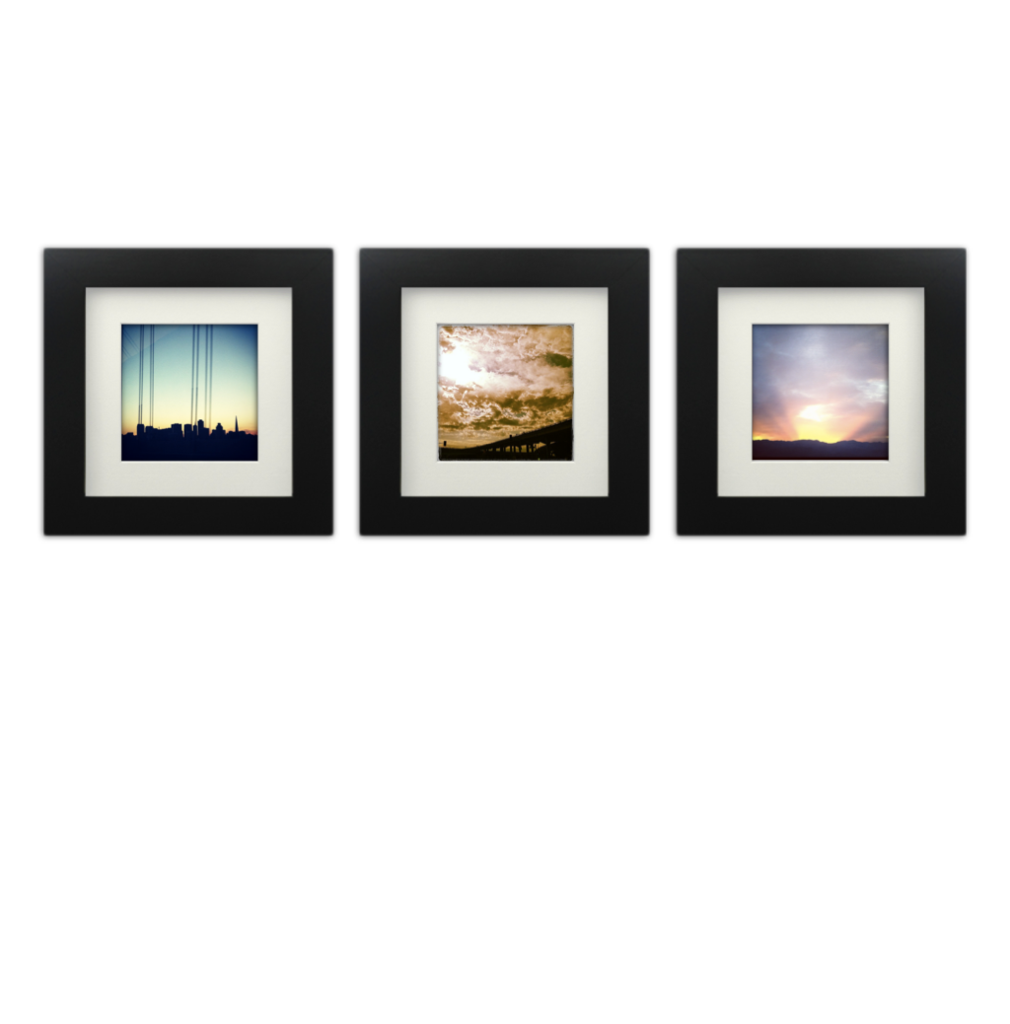 3 Pack Black 6x6 Photo Frame 4x4 Matted Instagram Photo