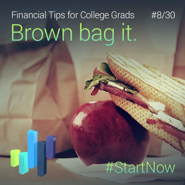 Spending $10/lunch, 3 times/week = $1,500+/year. Take your lunch to work! More tips: bit.ly/1FyxaJd