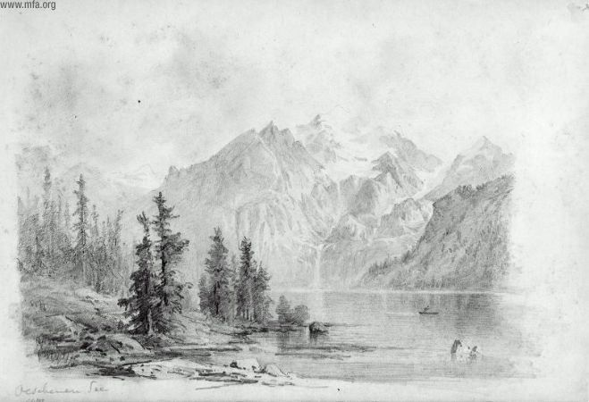 Mountains drawn in pencil dating