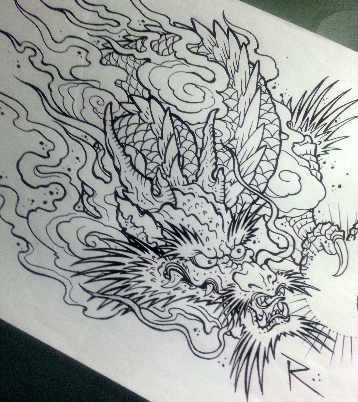 Asian Dragon Tattoo Sketch By Marinaalex On Deviantart: Pin By Arman Art Tattoo Shop On Oriental T Tattoos Frog