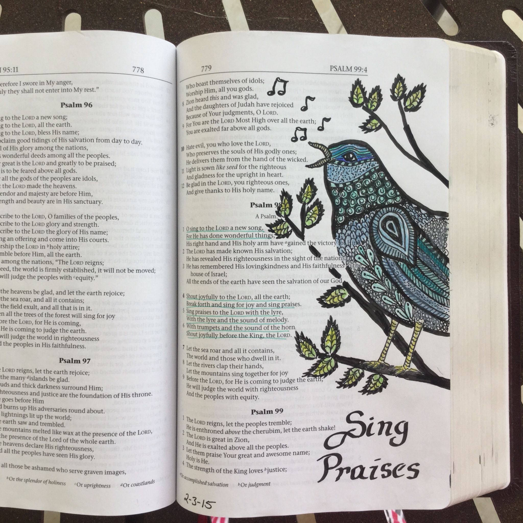 Psalm 98 | Bible Journaling | Bible study journal, Bible, Bible love