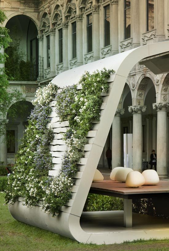 Vertical Garden Design With Gazebo Installation massimo iosa ghini: u0027south faceu0027 installation