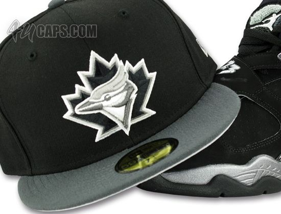 a13ad42f1 Toronto Blue Jays Jordan 8 Chrome 59Fifty Fitted Baseball Cap by NEW ...