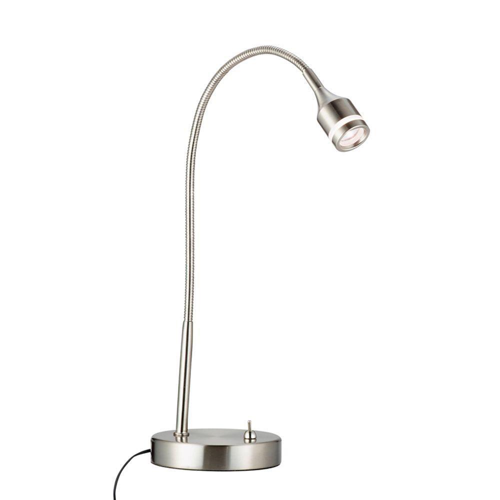 Adesso Prospect 18 in. Satin Steel LED Desk Lamp