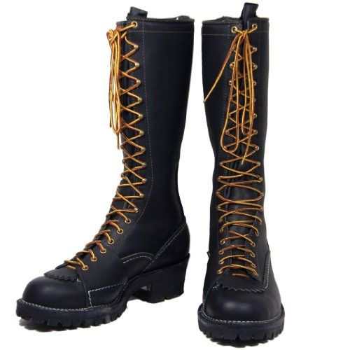 Amazon Com Wesco Highliner 16 Quot Lineman Boots Black 100