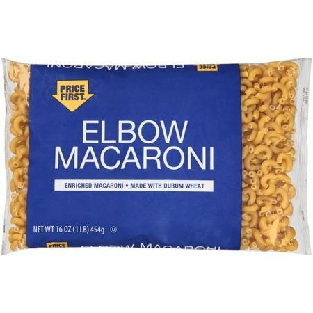 Price First Elbow Macaroni Pasta 16 Oz