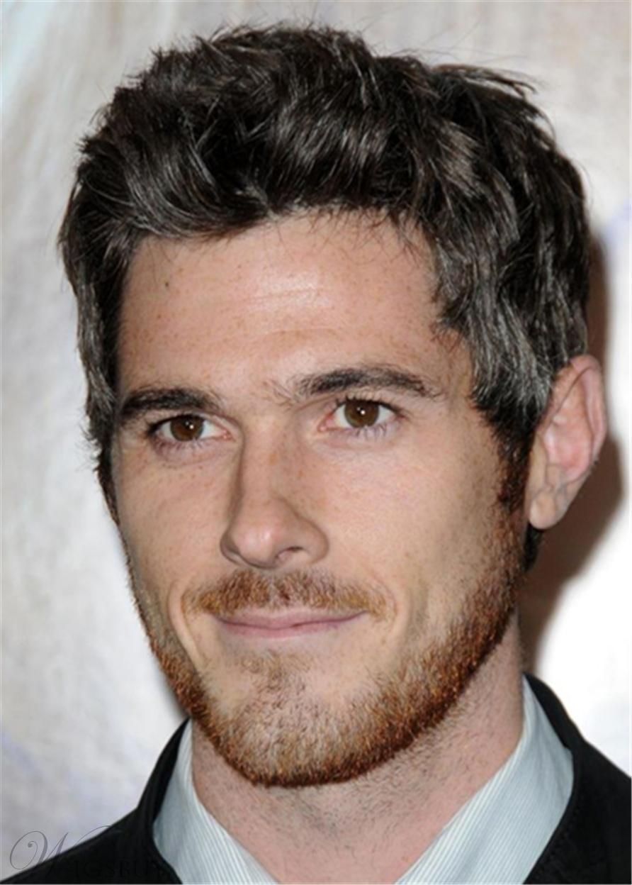 Mens haircuts straight hair dave annable hair cut human straight hair lace front mens wig