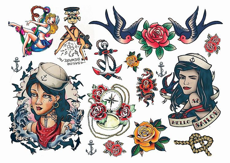 Temporary Tattoos Rockabilly Tattoos Try Before you Commit | tattoos ...