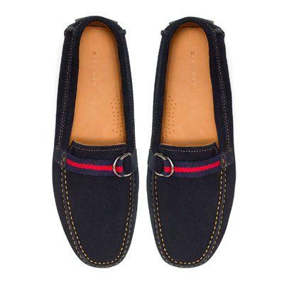 Free Zara Cintas Mocasines México Hombre Zapatos Mocasín qSpzVUM