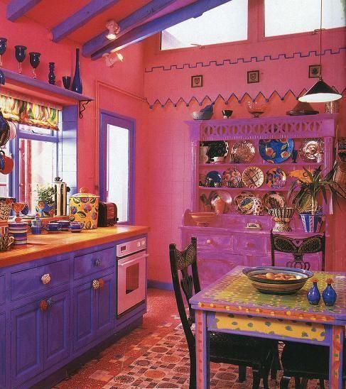 Crazy Chic Design Modern Boho Basement: 49 Colorful Boho Chic Kitchen Designs