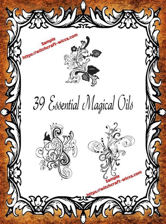 39 Essential Magical Oils - PDF Printable Book of Shadows