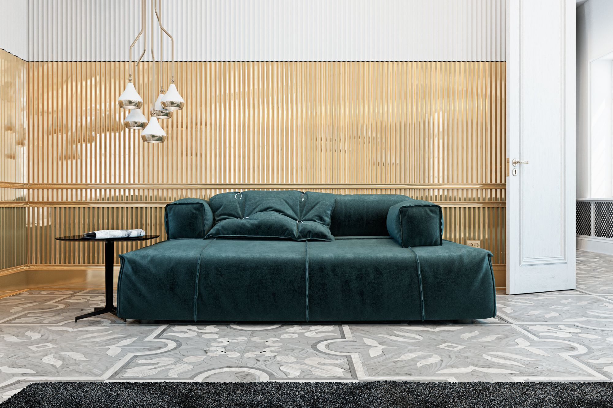 Luxury Living Room in Italian Contryside | www.livingroomideas.eu #modernhomedecor #livingroomideas #interiordesign #uniquelamps