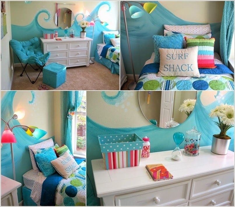 Adorable Sea Themed Kids Room Wall Decor Ideas Paint Blue Waves Themed Kids Room Kids Room Wall Kids Room Wall Decor