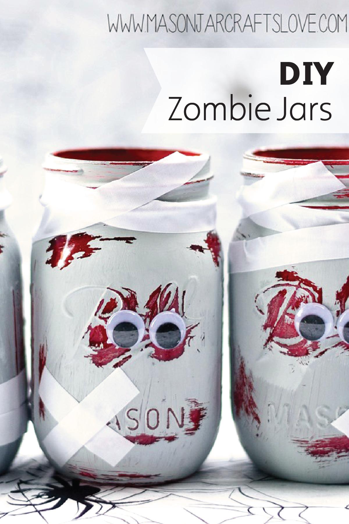 Zombie Mason Jars   Halloween parties and Halloween ideas