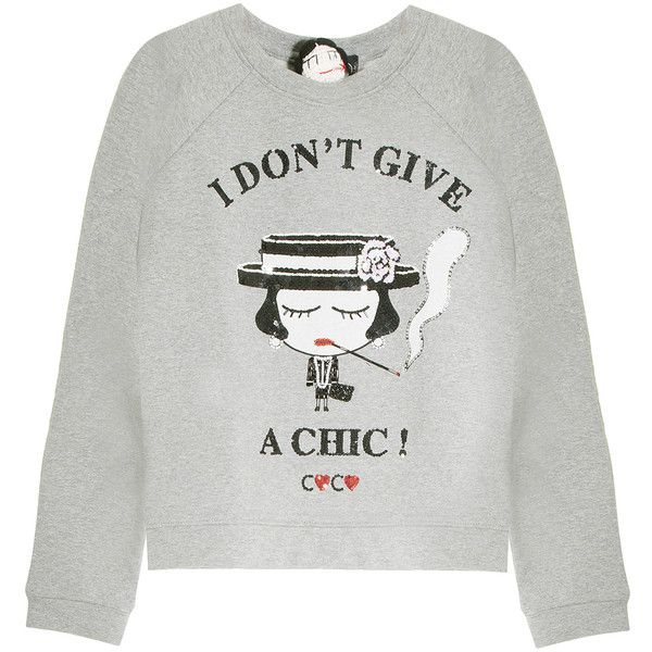 MUA MUA DOLLS I Don't Give A Chic Sweater ($164) ❤ liked on Polyvore featuring tops, sweaters, long sleeve sequin top, gray sweater, gray sequin top, gray top and long sleeve tops