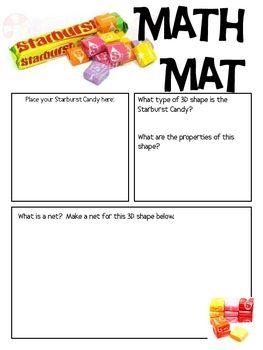 Math Mat Review Activity: Starburst Candy | Math Mats