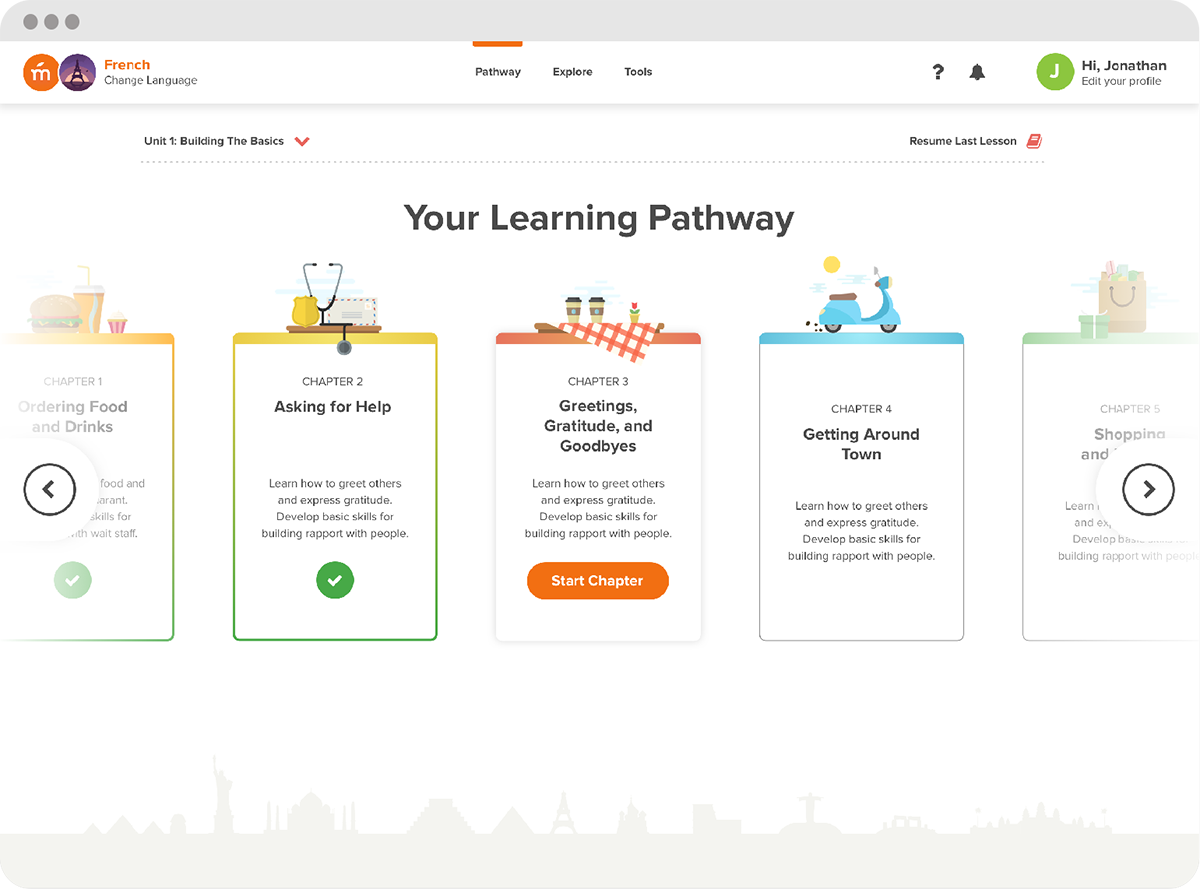 Screenshot Of The Pathway For Chapter Selection Inside