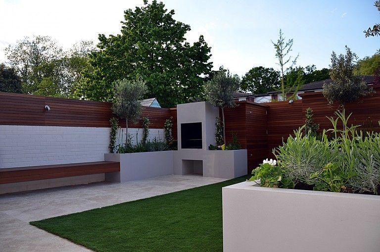 Garden Designer Hardwood Screen London Small Backyard In 2019