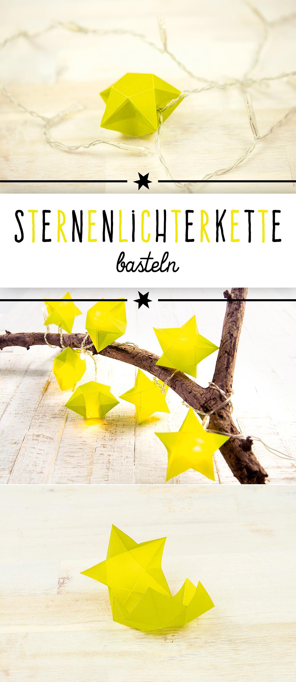 Sterne basteln für eine weihnachtliche Lichterkette | familie.de