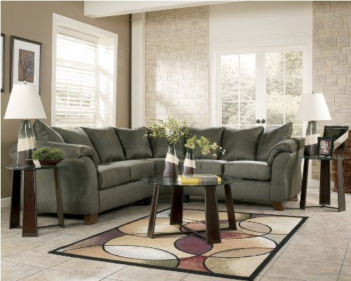 Bought This Locally For The New House Durapella Sage Modern Sectional By Ashley Now I Need Tables A Living Room Sets Furniture Relaxing Living Room Furniture