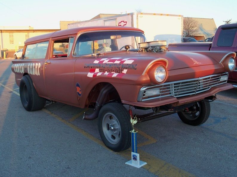 1957 ford del rio 2 door wagon gasser hot rod street for 1957 ford 2 door ranch wagon sale